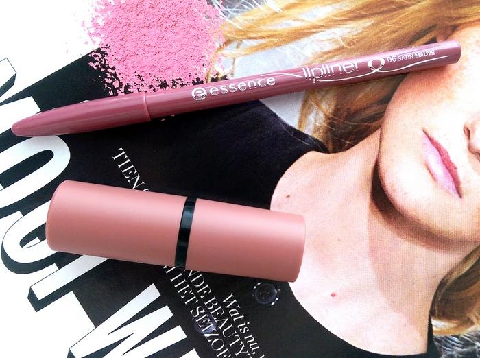 REVIEW: Essence #05 'Cool Nude'-lipstick & #06 'Satin Mauve'-lipliner