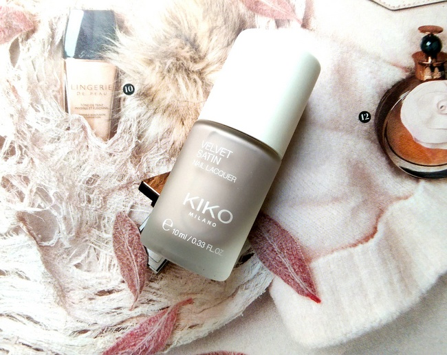 REVIEW: Kiko Limited Edition Velvet Satin nail lacquer in #695 'Ivory Taupe'