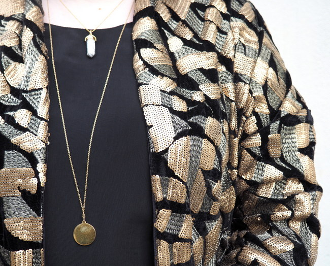 LOOK OF THE DAY: Sequins all day