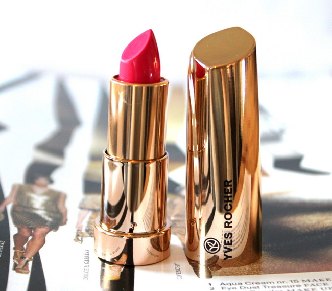 REVIEW: Yves Rocher Grand Rouge lipstick in 'Rose éclatant'