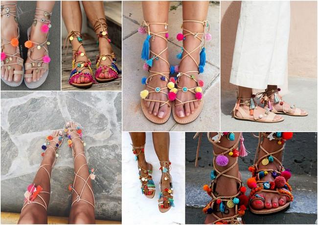 INSPIRATIEPOST: Pom pon sandals