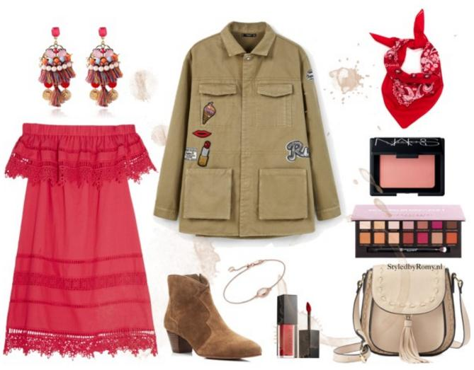 INSPIRATIEPOST: Mixing red with army
