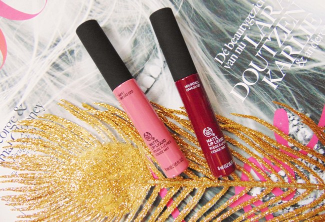REVIEW: The Body Shop matte Lip Liquids in 'Mauritius Dahlia' & 'Tapei Orchid'