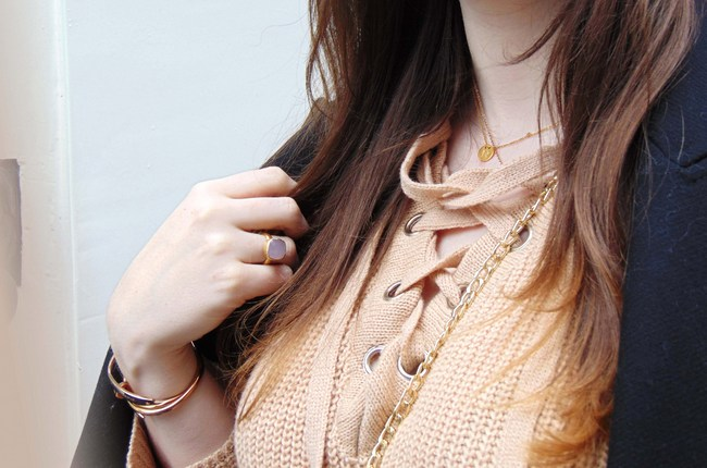 LOOK OF THE DAY: Apricot jumper