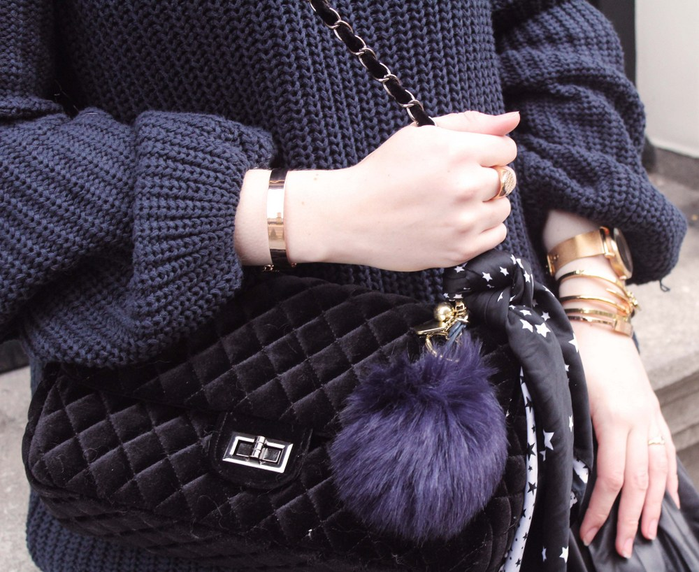 LOOK OF THE DAY: Zaful velvet bag