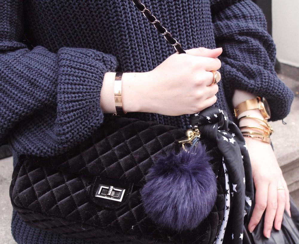 LOOK OF THE DAY: Zaful velvet bag