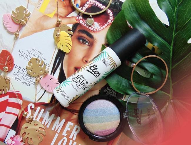 Etos Rainbow highlighter & Coconut Make-up fixing spray