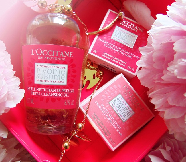 REVIEW: L'OCCITANE Peony Cleansing oil- & masks